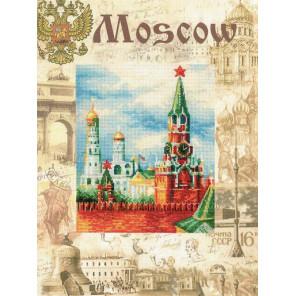 Фрагмент Города мира. Москва Набор для вышивания Риолис 0021 РТ