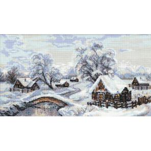 Зимняя деревня Набор для вышивания Риолис