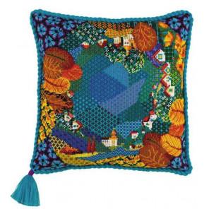 1_2 Сказочная страна Набор для вышивания подушки Риолис