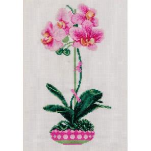 2_2 Розовая орхидея Набор для вышивания Риолис