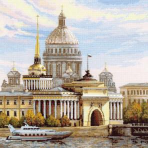 Санкт-Петербург. Адмиралтейская набережная Набор для вышивания Риолис 1283