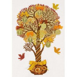 В рамке Денежное дерево Набор для вышивания Риолис 1294