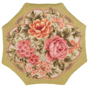 2_2 Вечерний сад Набор для вышивания подушки Риолис