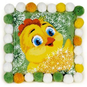 2_2 Цыплёнок Набор для вышивания подушки Риолис