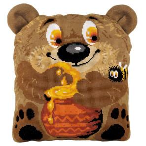 В рамке Медвежонок Набор для вышивания подушки Риолис 1590