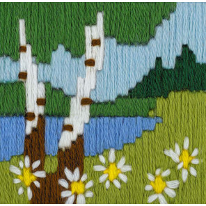 В рамке Лесное озеро Набор для вышивания Риолис 1651