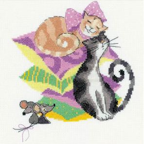 В рамке Кошки-мышки Набор для вышивания Риолис 1466