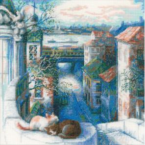 В рамке Ранняя весна Набор для вышивания Риолис 1705