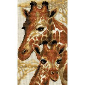 В рамке Жирафы Набор для вышивания Риолис 1697