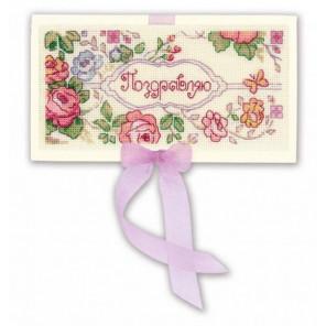 2_2 Поздравляю Набор для вышивания конверта Риолис