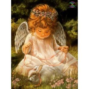 Ангел с кроликом Алмазная вышивка мозаика Алмазное Хобби