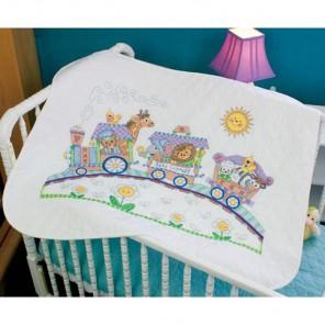 Одеяльце Паровозик 73427 Набор для вышивания Dimensions ( Дименшенс )