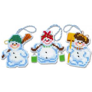 Снеговички Набор для вышивания новогодних игрушек Риолис 1681АС