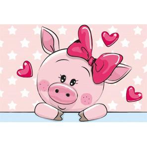 Влюбленная свинка Раскраска картина по номерам MC1080