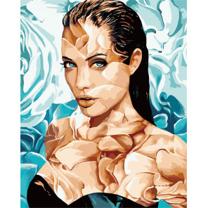 Анджелина Джоли Раскраска картина по номерам MG2107