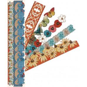 Цветы и бабочки Ленты бумажные для скрапбукинга, кардмейкинга K&Company