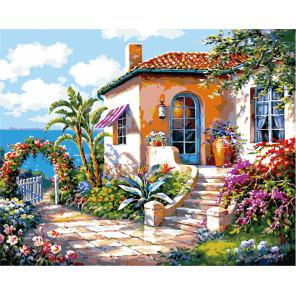 Живописный дворик Раскраска картина по номерам MG3113