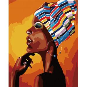 Портрет африканки Раскраска картина по номерам MG2112
