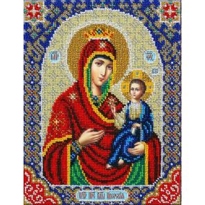 Святая Богородица Иверская Набор для частичной вышивки бисером Паутинка Б-1093