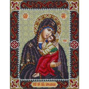 Святая Богородица Ярославская Набор для частичной вышивки бисером Паутинка Б-1094