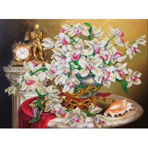 В рамке Орхидеи Набор для частичной вышивки бисером Паутинка Б-1271
