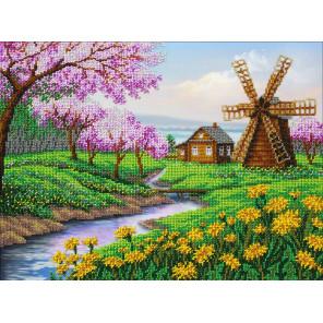 В краю весны Набор для частичной вышивки бисером Паутинка Б-1438