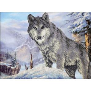 Волк Набор для частичной вышивки бисером Паутинка Б-1472