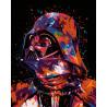 Звездный воин Раскраска по номерам на холсте Живопись по номерам ANNA-m012