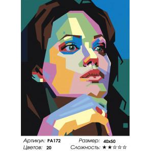 Количество цветов и сложность Цветной портрет незнакомки Раскраска по номерам на холсте Живопись по номерам PA172