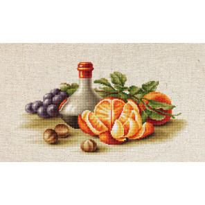 В рамке Натюрморт с апельсинами Набор для вышивания Luca-S BL2250