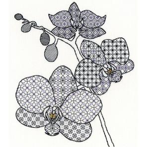Фрагмент крупно Орхидея Набор для вышивания Bothy Threads XBW2