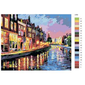 Раскладка Раскраска по номерам акриловыми красками на холсте Живопись по номерам