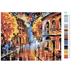 Схема Осенний этюд Раскраска по номерам акриловыми красками на холсте Живопись по номерам