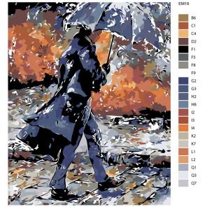Раскладка Шум дождя Раскраска по номерам акриловыми красками на холсте Живопись по номерам