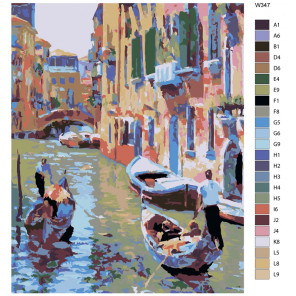 Раскладка Романтическая Венеция (художник Говард Беренс) Раскраска по номерам на холсте Живопись по номерам