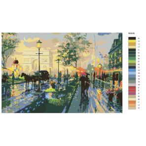 Схема Париж весной Раскраска по номерам на холсте Живопись по номерам