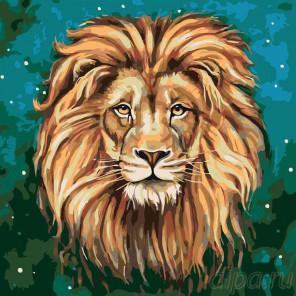 Раскладка Царь зверей Раскраска картина по номерам на холсте A359