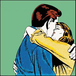 Схема Поцелуй Раскраска картина по номерам на холсте PA36