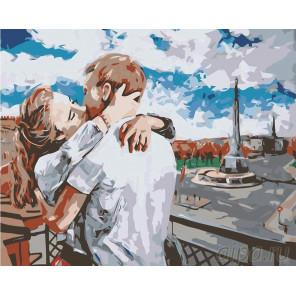 Поцелуй Раскраска картина по номерам на холсте LV12
