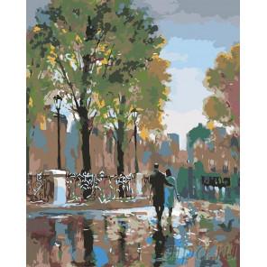 Прогулка в дождь Раскраска картина по номерам на холсте BH12