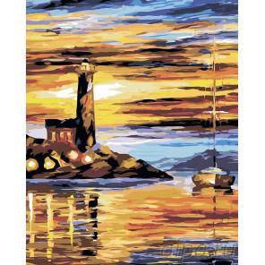 Маяк Раскраска картина по номерам на холсте LA20