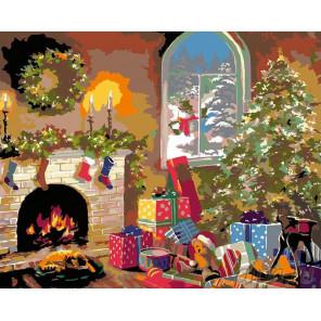 Накануне Рождества Раскраска картина по номерам на холсте NB02