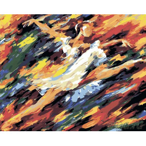 Раскладка Во власти танца Раскраска картина по номерам на холсте LA25