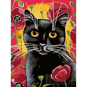 Раскладка Прогулка в маках Раскраска картина по номерам на холсте A136