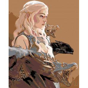 Схема Девушка и драконы Раскраска по номерам на холсте Живопись по номерам ARTH-AH106