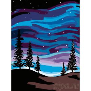 Схема Ночь в лесу Раскраска по номерам на холсте Живопись по номерам RA092