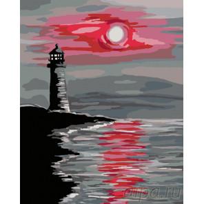 Красная луна Раскраска по номерам на холсте Живопись по номерам RA109