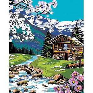 Схема Весна в Альпах Раскраска по номерам на холсте Живопись по номерам PP10