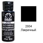 2934 Лакричный Для любой поверхности Сатиновая акриловая краска Multi-Surface Folkart Plaid