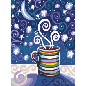 Кофе со звездами Раскраска по номерам на холсте Живопись по номерам RA176